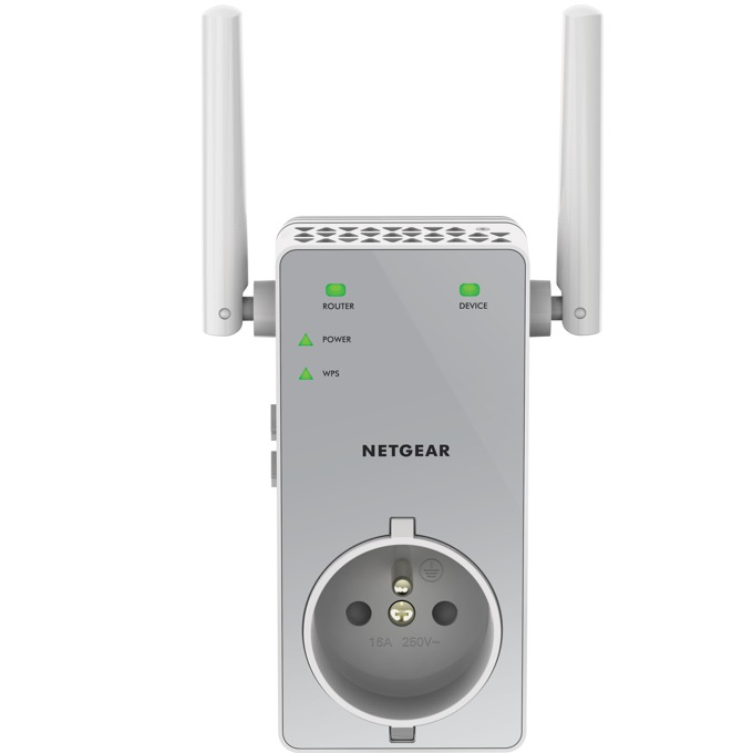Range Extender/Репитер Netgear EX3800, AC750 DUAL BAND (300 Mbps+450 Mbps), 1 x 10/100 Port, RANGE EXTENDER, 2x външни антени, 802.11ac/a/b/g/n image