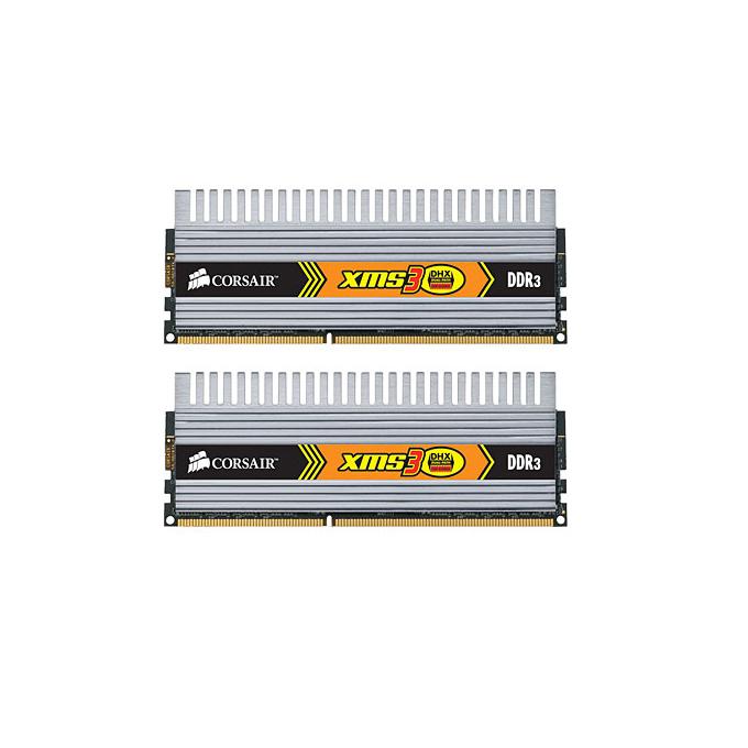 Памет 2x1GB DDR3 1600MHz Corsair TW3X2G1600C9DHX, XMS3, доживотна гаранция image