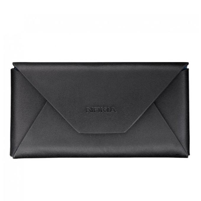 """Калъф тип """"джоб"""", черен, кожен, за Nokia Lumia 620/710/800, image"""