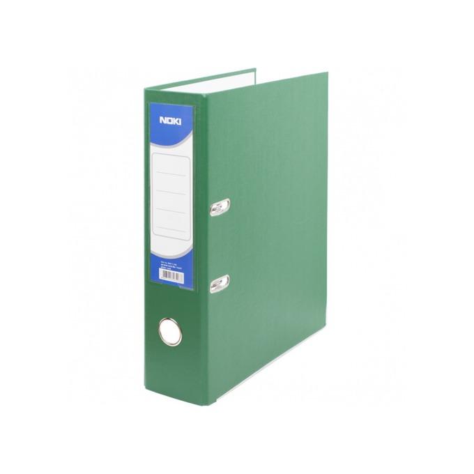 Класьор Noki, за документи с формат до А4, дебелина 8см, с метален кант, зелен image