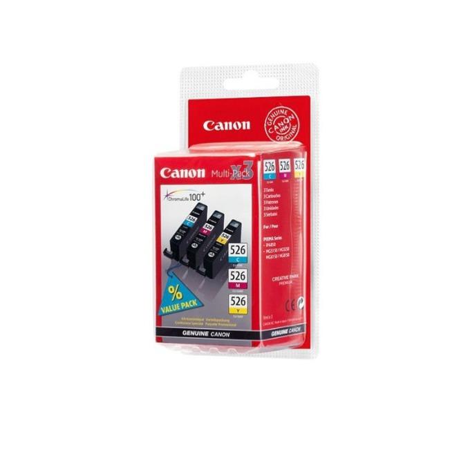 КОМПЛЕКТ ЗА CANON PIXMA iP 4850/MG5150/5250/6150/8150 - Multi pack 3 ink tank - CLI-526C/526M/526Y - P№ 4541B006 - заб.: 3x9ml. image