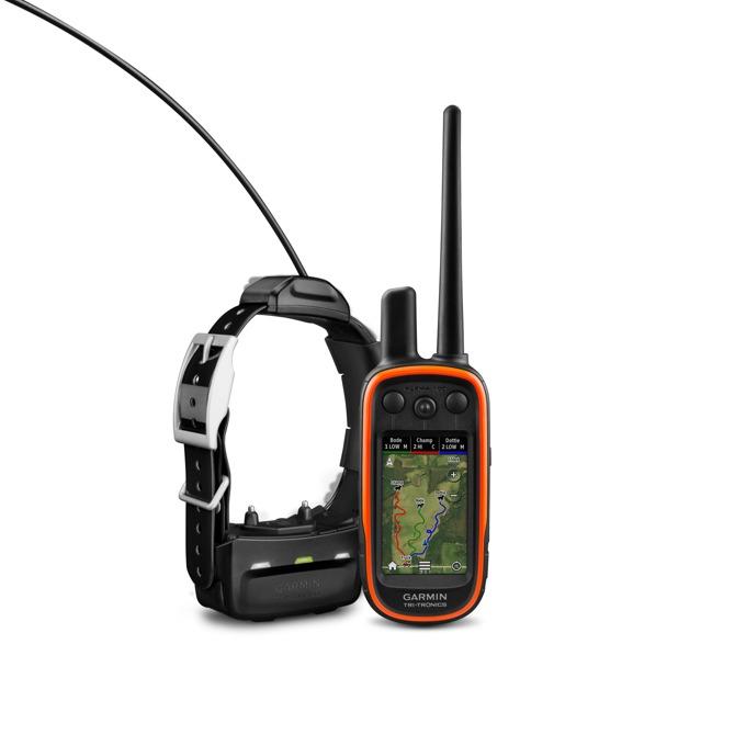 """GPS приемник и предавател Garmin Alpha 100 и TТ15, за дресировка и следене на кучета, 18 нива на стимулиране, до 14.5км обхват, 3.0"""" (7.62 cm) цветен LCD дисплей, microSD слот, 4GB вградена памет, IPX7 водоустойчивост, основна карта image"""
