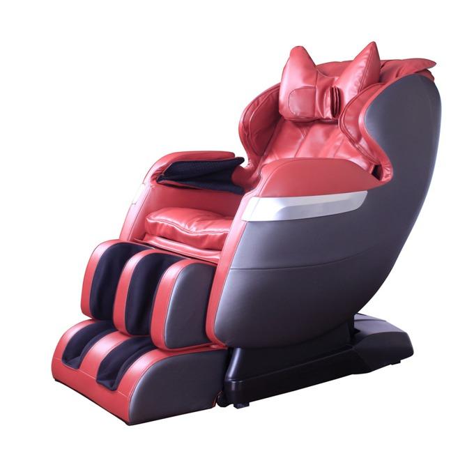 Масажен стол Rexton GJ-5102ZRed, комплексен масаж, крачна секция, колела, LCD екран, дистанционно управление, червен image