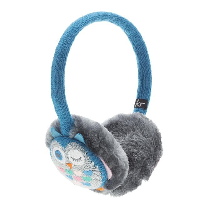 Слушалки KitSound Owl Earmuffs, сини, с ушанки image
