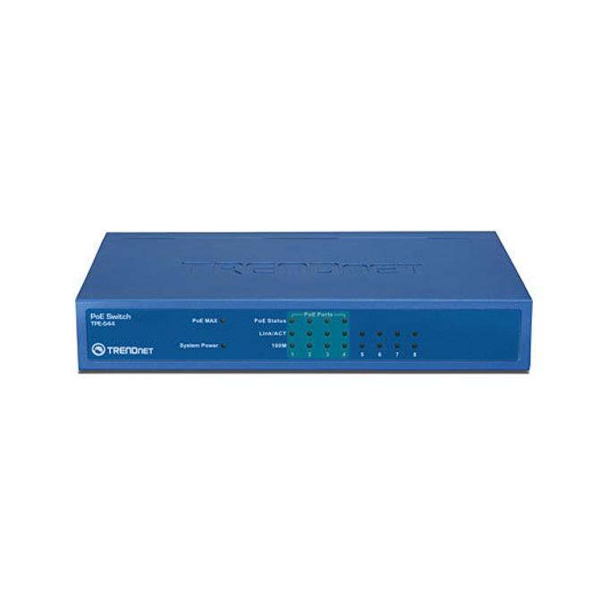 Суич TRENDnet TPE-S44, 8 Port 100Mbps, PoE  image